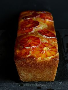 French Yoghurt Cake with blood oranges