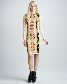 Santos Tribal-Print Long-Sleeve Dress by Alice by Temperley at Neiman Marcus.