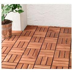 IKEA - RUNNEN, Decking, outdoor, Floor decking makes it easy to refresh your terrace or balcony.The floor decking can be cut if you need to fit it around a corner Ikea Exterior, Diy Deck, Deck Plans, Wooden Decks, Building A Deck, Acacia Wood, Ikea Hack, Home And Garden, Ikea Deck Tiles
