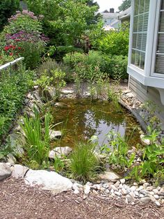 Easy to Build a Better Backyard Garden Pond Backyard Water Feature, Ponds Backyard, Garden Ponds, Pond Landscaping, Landscaping With Rocks, Pond Design, Garden Design, Bog Garden, Easy Garden