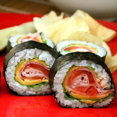 Green eggs and ham, Green eggs and Sushi on Pinterest