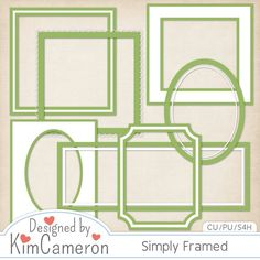 Simply Framed - Layered PSD Templates with PNG by Kim Cameron for Digital Scrapbooking #CUDigitals