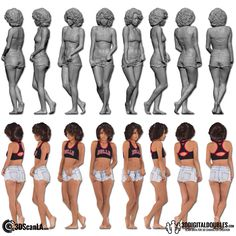 Digital Doubles, 3D Head and Body Scanning and 3d scan store | Female Body Scan; 24-31