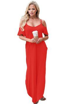 Poppy red maxi dress