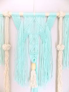 Macrame+Wall+Hanging+Spirited+Away+no.4+by+HIMO+ART+One+by+HIMOART,+$78.00