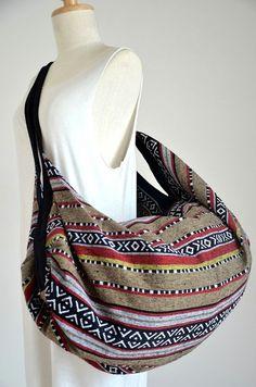 Nepali Fabric Design Hippie Shoulder Bag Gypsy Bag Boho Hobo Bag Tote Bag Crossbody Bag Diaper Bag Woven Cotton Handbag Purse NEPSB217
