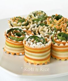 Rolled pasta as antipasto
