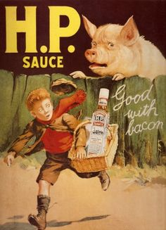 S1354 SMALL HP SAUCE METAL ADVERTISING WALL SIGN RETRO ART: Amazon.co.uk: Kitchen  Home