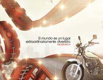 Ride the Fun by Harold Magnus, Adriá Triana & Carlos Bedoya via Behance Behance, Fun, Movies, Movie Posters, Blue Prints, Films, Film Poster, Cinema, Movie