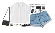 """""""Untitled #367"""" by soulflare13 ❤ liked on Polyvore featuring Somedays Lovin, Monki, Threshold, Ray-Ban, Sephora Collection, J.Crew, 3.1 Phillip Lim, Meggie and Tom Binns"""