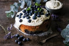 Titel van de afbeelding Blueberry Lemon Coffee Cake, Stevia, Muffins, Cheesecake, Favorite Recipes, Health, Desserts, Food, Tailgate Desserts