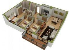 Denah rumah 3 kamar (11)