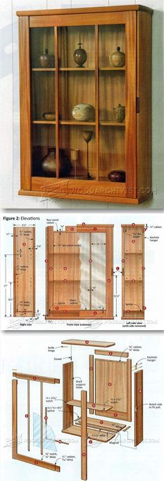 Wall Display Cabinet Plans - Furniture Plans and Projects - Woodwork, Woodworking, Woodworking Plans, Woodworking Projects Woodworking Furniture Plans, Cool Woodworking Projects, Diy Wood Projects, Diy Woodworking, Furniture Projects, Kitchen Furniture, Wall Display Cabinet, Cabinet Plans, Hoosier Cabinet