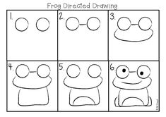 Art for the Class: Frog Art Making Art pour la classe: Art de grenouille Frog Drawing, Drawing For Kids, Art For Kids, Drawing Projects, Drawing Lessons, Art Projects, Kindergarten Art Lessons, Art Lessons Elementary, Kindergarten Drawing