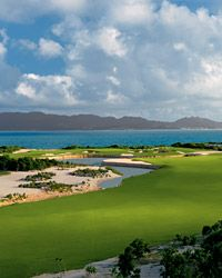 Play a couple rounds of golf on the beach!