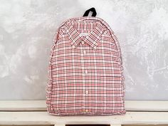 Unisex backpack Pink backpack Cute backpack One of a by YouNeedEco