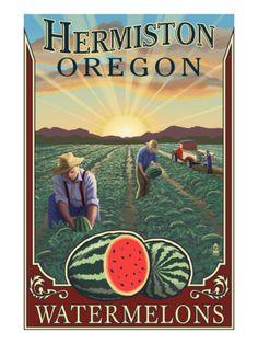 Hermiston, Oregon Watermelon Field Art  Where I was born, where I was raised, where I spent all my yesterdays....Hermitville!