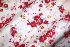 Dapper15 6228-15 Katoen gebloemd rood
