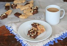 Try these gluten-free almond biscotti! You'd never know they were gluten-free. Gluten Free Desserts, Gluten Free Recipes, Dessert Recipes For Kids, Girl Cooking, Gluten Free Chocolate, Chocolate Dipped, Biscotti, Kids Meals, Almond