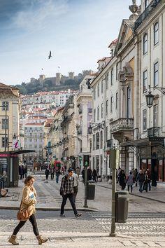 Lisbon - Baixa, Rua de Santa Justa One of the most beautiful city in the world