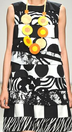 If I keep buying black and white prints, someday I'll be able to take all of the scraps and make this dress... heh.