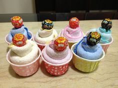 """Towel Cupcake - """"bake"""" and crafted."""