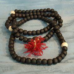 Antique Buddhist Prayer Beads - Wooden Japanese #Mala