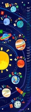 """Solar System"" - Personalizable Canvas Growth Chart from Oopsy daisy, Fine Art for Kids"