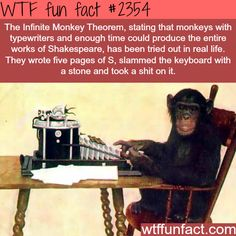 I doln't know how to respond to a monkey writing 5 pages of Shakespeare.
