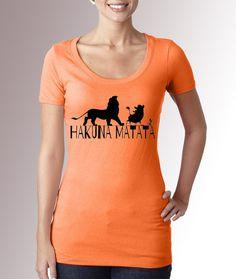 Lion King Hakuna Matata Light Orange Fitted by CaribouClassics