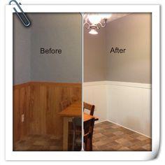 Diy Home Repair Hack Easily Paint Over Wood Paneling Woods