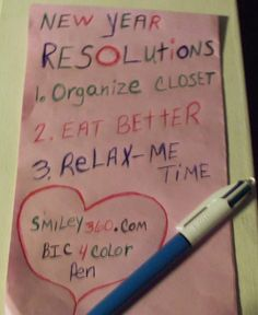 Resolutions from Bean Smith!