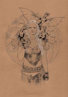 Game of Thrones - Daenerys Targaryen (Khaleesi) by Jason Baroody