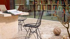 Sedia in metallo DKR Collezione Wire Chair by Vitra design Charles