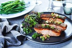 The Australian native finger lime is often compared to caviar for its distinctive pop and makes a wonderful addition to this salmon recipe.