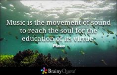 Music is the movement of sound to reach the soul for the education of its virtue. - Plato