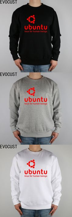 ubuntu LINUX for human beings men Sweatshirts Thick Combed Cotton