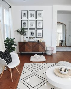 New Living Room Modern Neutral Rugs Ideas New Living Room, Home And Living, Living Room Decor, Living Room Gallery Wall, Living Room Wall Ideas, Living Room Walls, Target Living Room, Living Room Photos, Cozy Living Rooms