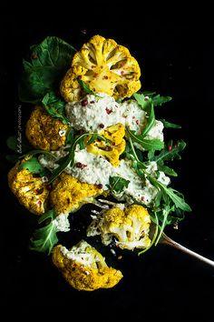 Coliflor Tandoori con raita de anacardos - Bake-Street.com