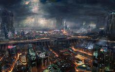 Fond d'écran hd : paysage science fiction