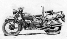 Guzzi 500 Alce two-seater.Italian army motorcycle