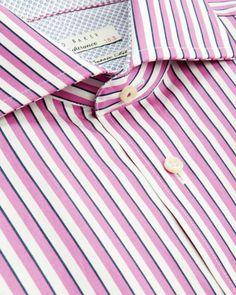 KRONE - Striped shirt - Pink | Men's | Ted Baker UK