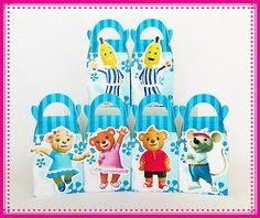 BANANAS IN PYJAMAS PARTY BOXES THEMED KIDS BIRTHDAY BAGS SUPPLIES DECORATIONS | eBay