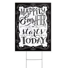 Happily Ever After Yard Sign | Overstock.com Shopping - Big Discounts on Hortense B. Hewitt Wedding Ceremony