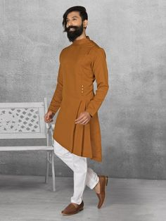 Shop Terry rayon brown kurta suit online from G3fashion India. Brand - G3, Product code - G3-MKS0522, Price - 4295, Color - Brown, Fabric - Terry Rayon,