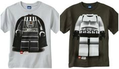 Boys will love these Lego Star Wars T-Shirts of Darth Vader or a Storm Trooper. The best part is that it's their head on their bodies! Star Wars Tshirt, Lego Star Wars, Cool Gifts, Stars, Sweatshirts, T Shirt, Kids, Supreme T Shirt, Young Children