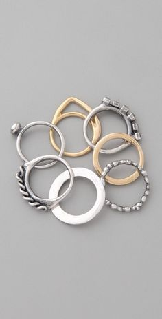Iosselliani  Stackable Rings 6size/7size ¥37,000+tax