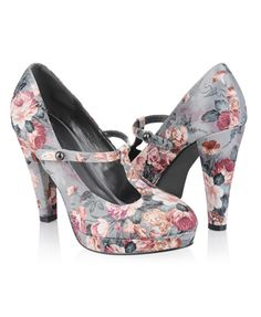 Forever 21 floral mary jane shoes.