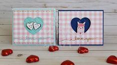 Pink & Fun: Tutorial - Cartões para o Dia dos Namorados - Valentine's Day Cards