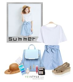 """""""Hello Summer"""" by shoujoandmore ❤ liked on Polyvore featuring Betsey Johnson, Polaroid, Baimomo, Lancôme, Kate Spade, DaBaGirl, Summer, tops, summerstyle and yesstyle"""